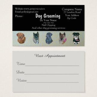 Hundpflegen und Haustierpflegeservice-Verabredung Visitenkarte