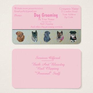 HundpflegenHaustierpflege untersucht Visitenkarte