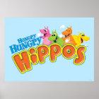 Hungrige hungrige Flusspferde Poster