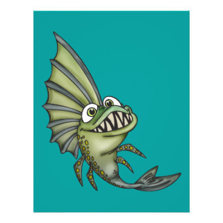 Hungrige Piranha-Fische 21,6 X 27,9 Cm Flyer
