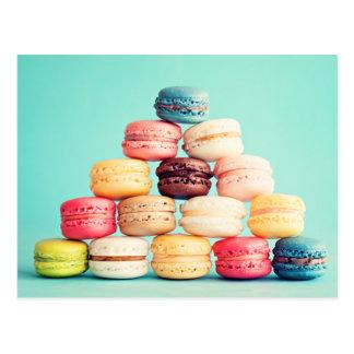 Hungriger Macaron Hipster, Mehrfarben, Postkarten