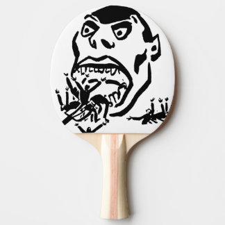 Hungriger Mann/Moloch ein Faim Tischtennis Schläger