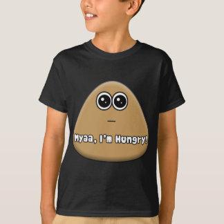 Hungriges Pou mit Text T-Shirt