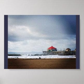 Huntington Beach Pier, CA Poster