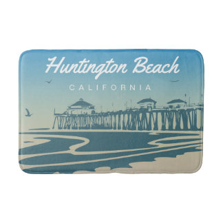 Huntington Beach Pier, Kalifornien - fertigen Sie Badematte