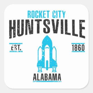 Huntsville Quadratischer Aufkleber