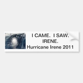 Hurrikan-Irenestoßaufkleber Autoaufkleber