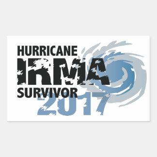 Hurrikan-Irma-Überlebend-Florida-Autoaufkleber Rechteckiger Aufkleber