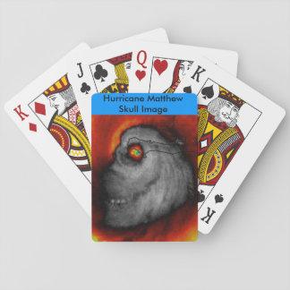 Hurrikan Mathew Schädel-Bild-Spielkarten Spielkarten