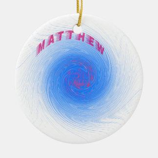 Hurrikan Matthew Rundes Keramik Ornament