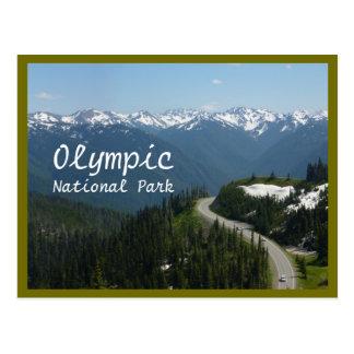Hurrikan Ridge (olympisches N.P.) mit Text Postkarte