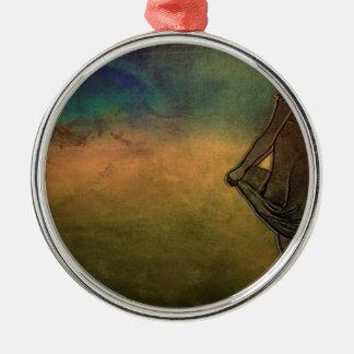 Hurrikan Rundes Silberfarbenes Ornament