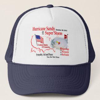 Hurrikan-Sandysupersturm gruppieren Truckerkappe