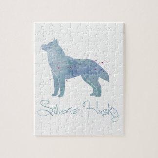 Husky-Aquarell-Entwurf Puzzle