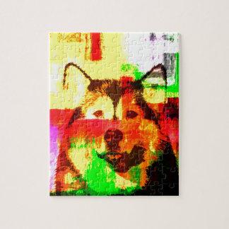 Husky-Hundekunst Puzzle