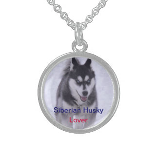 Husky-Hundeliebhaber Nicklace Sterling Silberkette