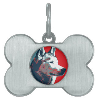 Husky-politisches Parodie-Plakat Tiermarke