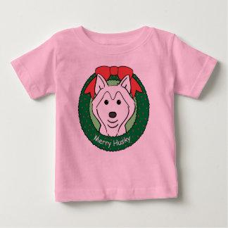 Husky-Weihnachten Baby T-shirt