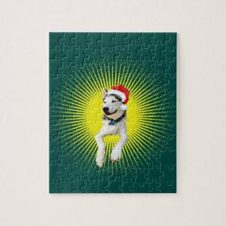 Husky-Weihnachten Puzzle
