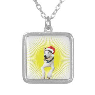 Husky-Weihnachten Versilberte Kette
