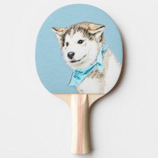 Husky-Welpen-Malerei - ursprüngliche Hundekunst Tischtennis Schläger