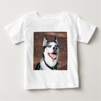 Huskyhundeblaue Augen Baby T-shirt