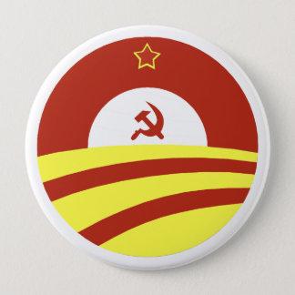 Hussein Obama sagt: Verbreiten Sie den Reichtum Runder Button 10,2 Cm