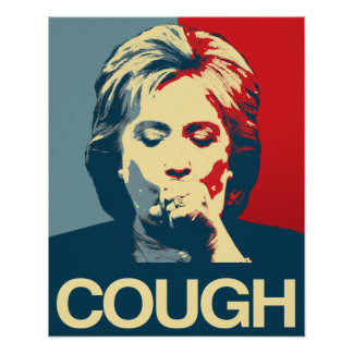 HUSTEN - Anti-Hillary-Propaganda-Plakat Poster