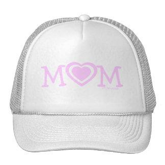 Hut der Mutter Tagesmit rosa Herzen Retromütze
