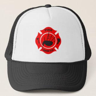 Hut Fire Rescue Bagpipe Corp Truckerkappe