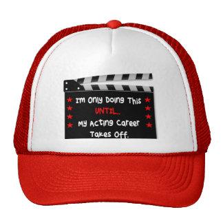 Hut für Schauspieler oder Schauspielerin Netzkappen