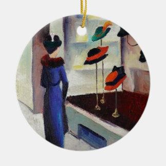 Hut-Geschäft - August Macke Keramik Ornament