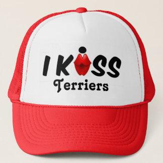 Hut-Kuss küsse ich Terrier Truckerkappe