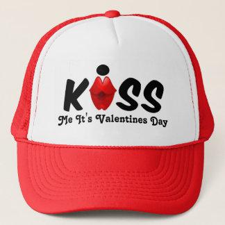 Hut küssen mich, den es Valentinstag ist Truckerkappe