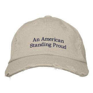 Hut mit amerikanischem stehendem stolzem bestickte baseballcaps