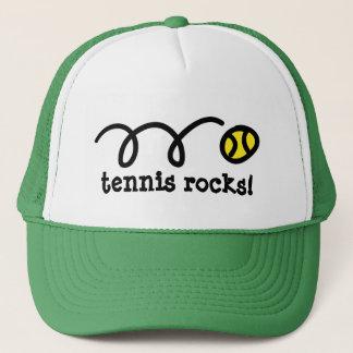 Hut mit aufprallendem Tennisballentwurf Truckerkappe