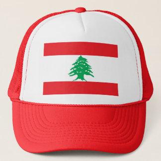 Hut mit Flagge vom Libanon Truckerkappe