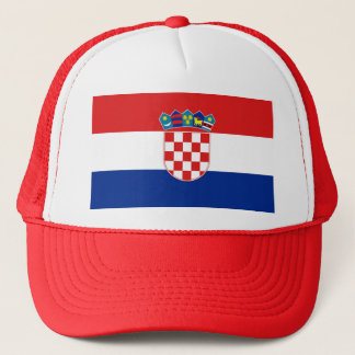 Hut mit Flagge von Kroatien Truckerkappe
