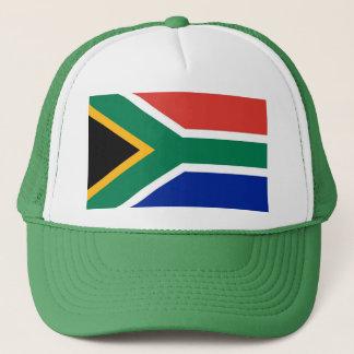 Hut mit Flagge von Südafrika Truckerkappe