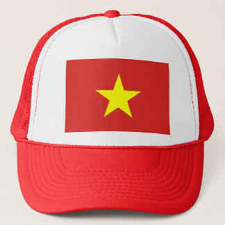 Hut mit Flagge von Vietnam Truckerkappe