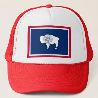 Hut mit Flagge von Wyoming-Staat - USA Truckerkappe