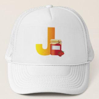 Hut mit Spaßbuchstaben J Truckerkappe