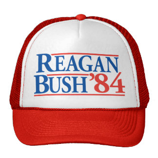 Hut Reagans Bush '84 Trucker Cap