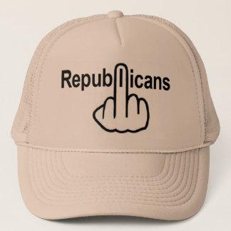 Hut-Republikaner drehen um Truckerkappe