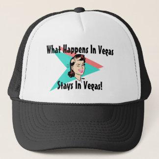 Hut-Retro Las VegasWink, was in v-Aufenthalten Truckerkappe