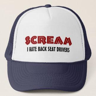 Hut-Schrei hasse ich Rücksitz-Fahrer Truckerkappe