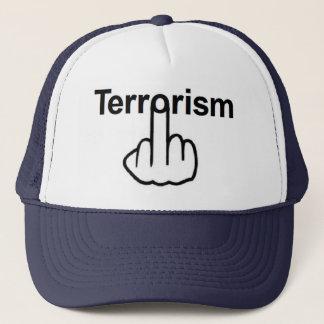 Hut-Terrorismus drehen um Truckerkappe