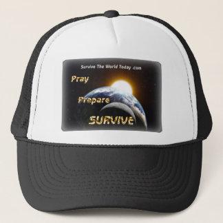 Hüte mit Sun, Erde u. Mond-Bild u. Logo Truckerkappe