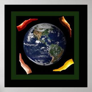 Hüten Sie unsere schöne Welt Poster