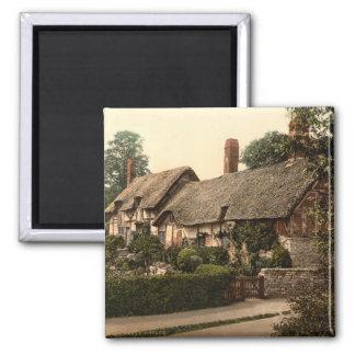 Hütte Ann Hathaways, Stratford-auf-Avon, England Quadratischer Magnet